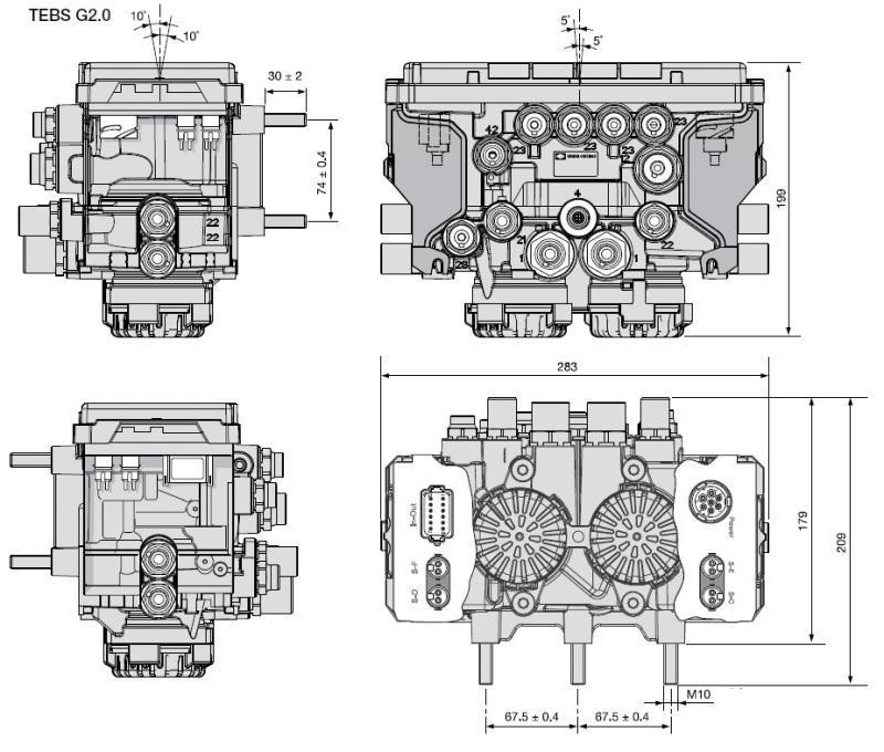 K019300V04N50 Модулятор TEBS ES2060 G2