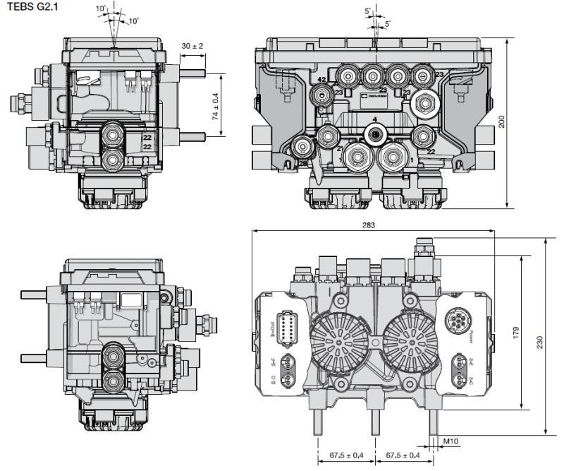 K019350V02 Модулятор TEBS ES2060 G2-1
