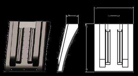 102049040 Крыло переднее малое KRONE 490x412mm