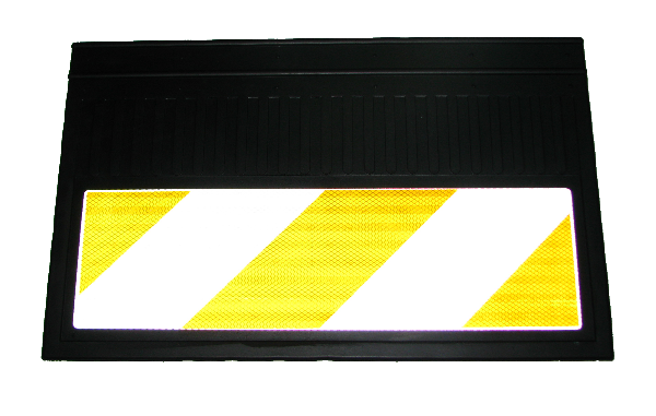 82545 Кмт из 2х брызговиков 580x360mm светоотражающих БЕЛЫЕ