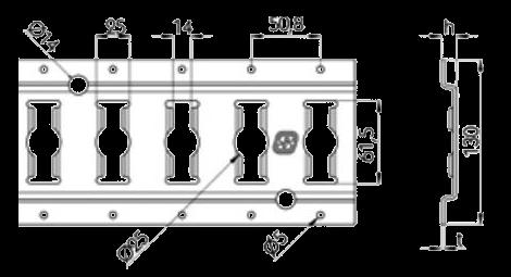 142138016 Анкерная шина крепления груза L-3048mm
