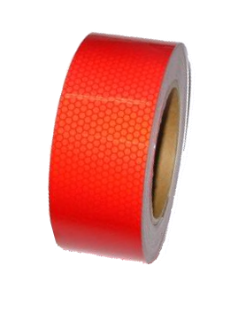 255SLRBP Лента светоотражающая красная Пчелиные Соты