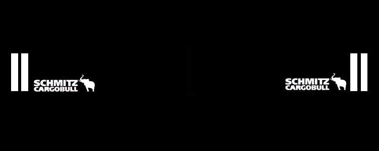 Intertruck. 350381114. Брызговик 2400mm бампера с логотипом SCHMITZ к-т 2 шт_