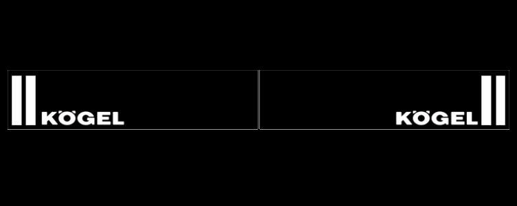 Intertruck. 350381115. Брызговик 2400mm бампера с логотипом KOGEL к-т 2 шт_