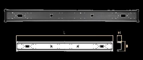 TK7540 Бампер задний L2400mm B220mm H105mm