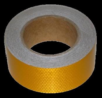 255SLYBP Светоотражающая лента жёлтая Пчелиные Соты 100mm-25m