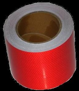 2510SLRBP Светоотражающая лента красная Пчелиные Соты 100mm-25m
