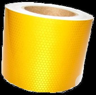 2510SLYBP Светоотражающая лента жёлтая Пчелиные Соты 100mm-25m