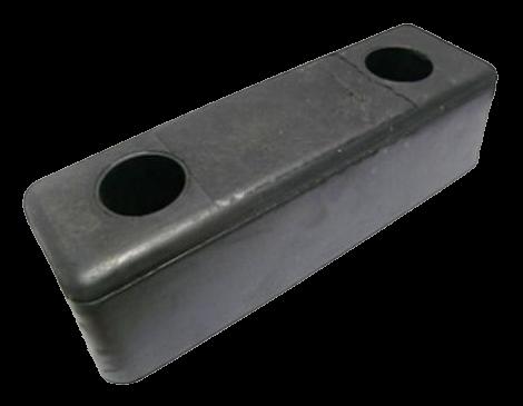 200200 Отбойник 252х80х67mm резиновый