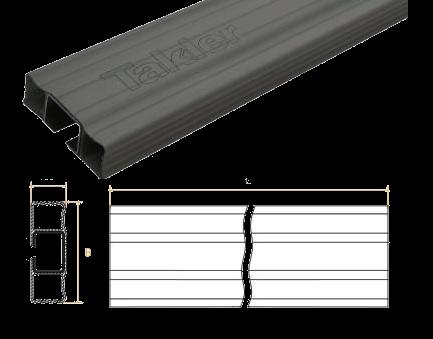 TK1007 Профиль пластиковый боковой защиты 3,5m