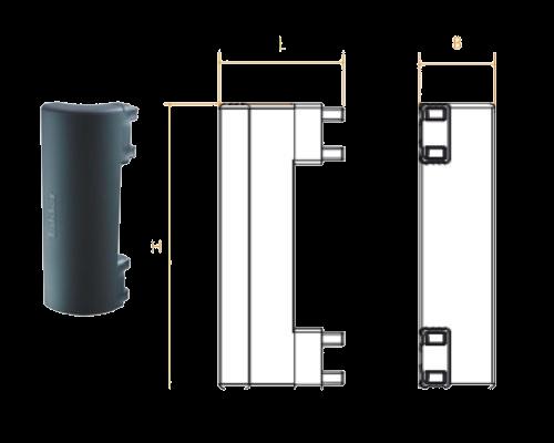 TK1040 Угловой соединитель боковой защиты 500mm