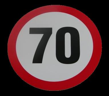 345551166 Табличка ограничения скорости 70km