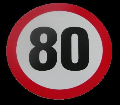345551167 Табличка ограничения скорости 80km