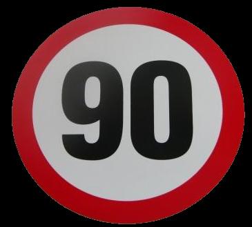 345551168 Табличка ограничения скорости 90km