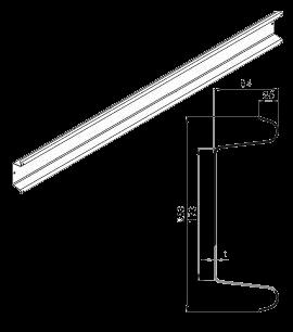 380561350 Бампер стальной оцинкованный 2400mm