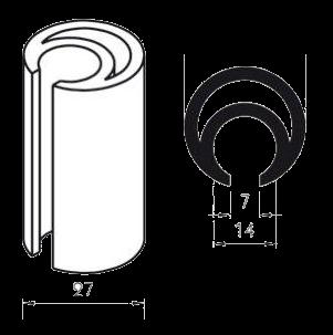 Штанга сдвижного механизма каркаса тента прицепа