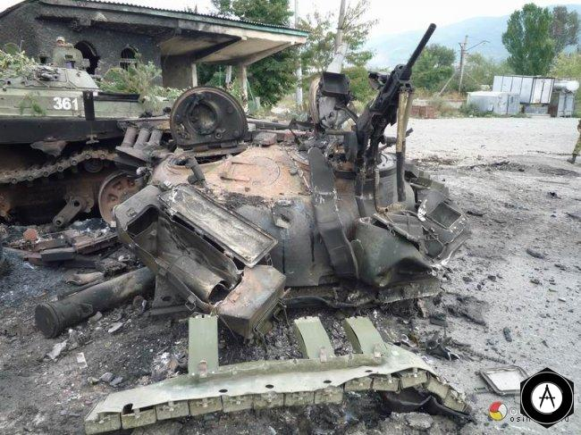 Остатки грузинских танков