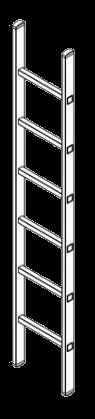 300131648 Лестница алюминевая для полуприцепа 2,5m