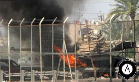 Уничтоженный огнем РПГ в Багдаде Абрамс