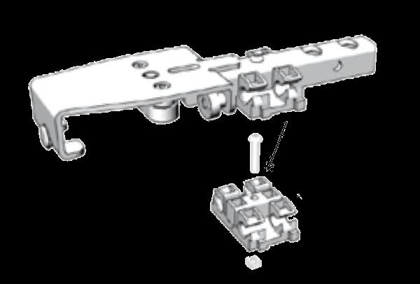38061160 Пластина крепления шарниров роликовой тел