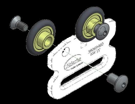 38080091 Ремкомплект роликов боковой шторки