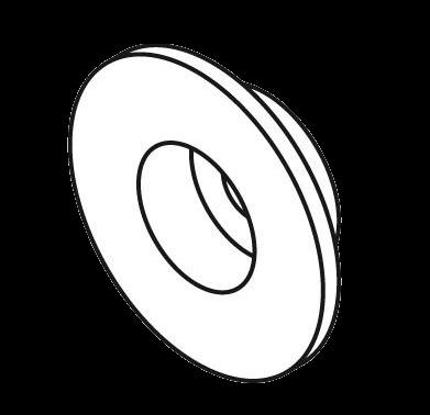 63395 Соединительная шайба тента к крыше D=24mm