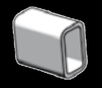 38030680 Отрезок прямоугольной трубы
