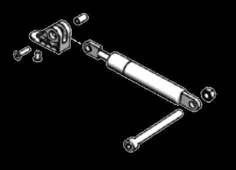 38065020 Кмт кронштейна и амортизатора 700N каретк