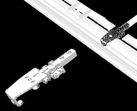38061820 Тележка роликовая пластиковая для попереч