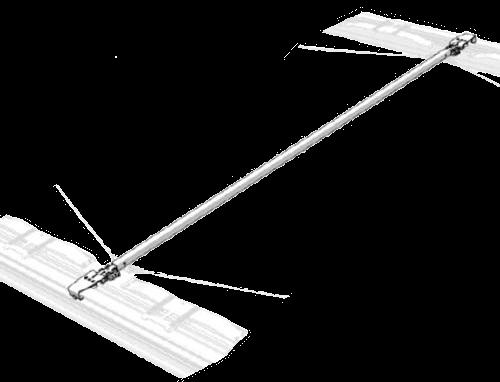 38062250 Поперечина с тележкой сдвижной крыши