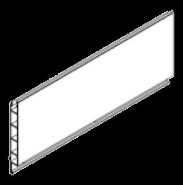 438189 Профиль передней стенки нижний
