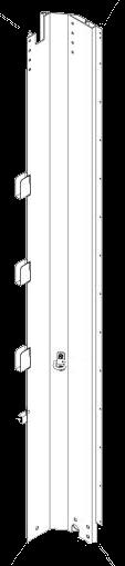 595660 Стойка угловая передняя левая CNCS Штора-борт