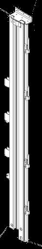 596701 Стойка L задняя штора-борт