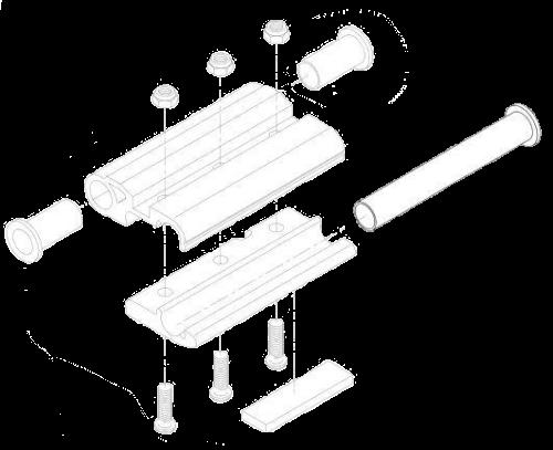 Ремкомплект шарнира-петли задних ворот_
