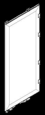 801058 Створка двери сендвич правая 2680