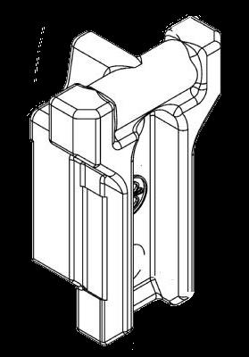 6608739 Кронштейн крепления средней стойки