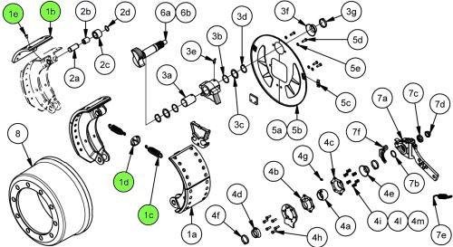 Кмт тормозных накладок на колесо SN4218S_