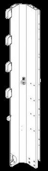 575381 Стойка объёмная передняя левая под тент