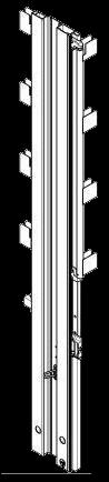 575395 Стойка угловая задняя левая под тент