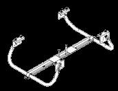 6109115 Держатель-корзина 2х запасных колёс