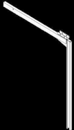 578879 Стойка сдвижной крыши опорная передняя правая