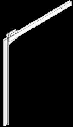 578878 Стойка сдвижной крыши опорная передняя левая