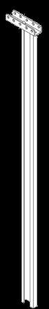 579156 Стойка сдвижной крыши опорная задняя левая