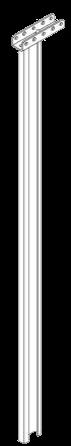 579157 Стойка сдвижной крыши опорная задняя правая