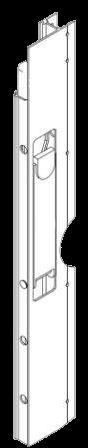 Профиль с замком бококового борта левый 615mm_