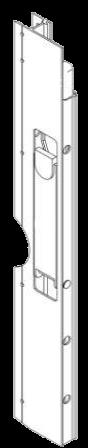 Профиль с замком бококового борта правый 615mm_