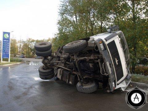 maz грузовик едва не взорвал заправку