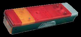 168340 Задний L фонарь с подсветкой номера
