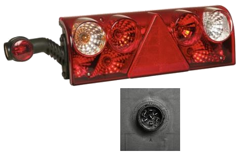 611465 Задний левый фонарь Europoint II с рогом RED/WHITE (256011517)