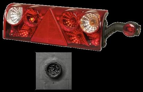 611466 Задний правый  фонарь Europoint II с рогом RED/WHITE (256411517)